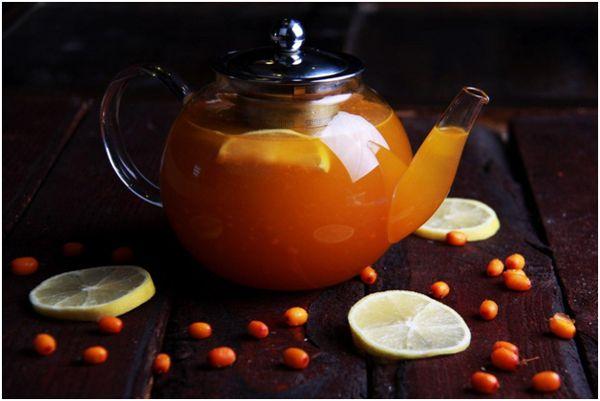 чай из облепихи с лимоном