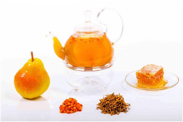облепиховый чай с грушей и медом