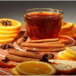 апельсиновый чай с корицей и бадьяном