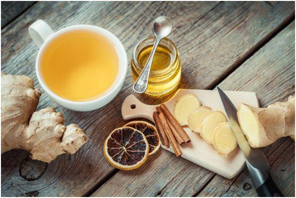имбирно-апельсиновый чай и мед