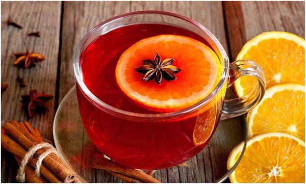 чай с апельсином и пряностями