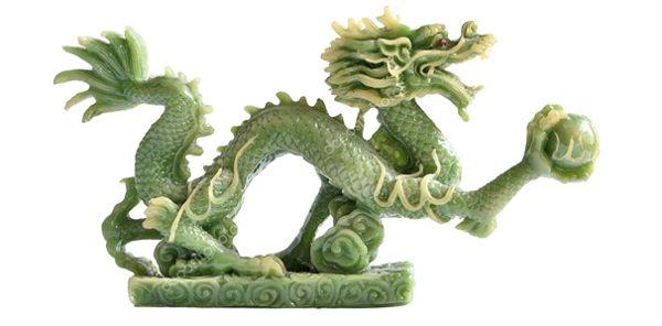 зеленый дракон сувенир