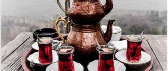 турецкие чайники и чашки