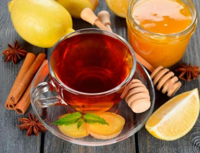 чай каркаде имбирь мед
