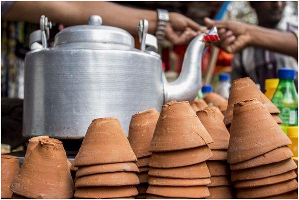 глиняные стаканчики в индии