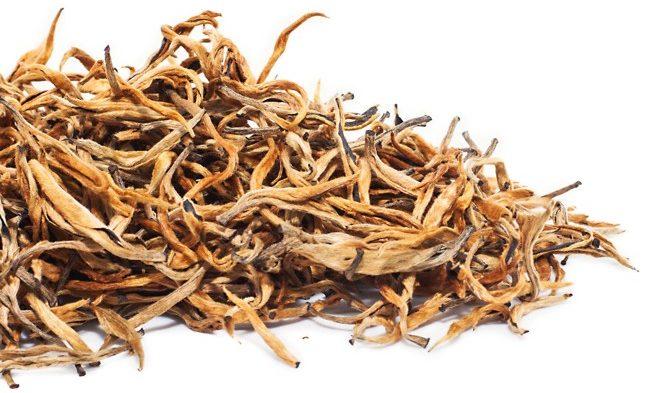 листья чая дянь хун