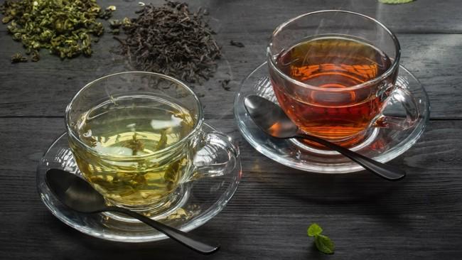 зеленый и черный чай