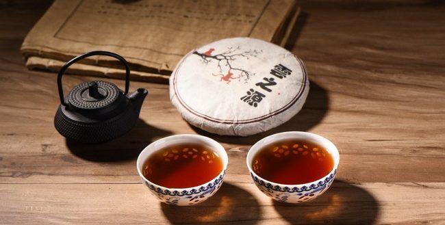 2 чашки чая шу пуэр