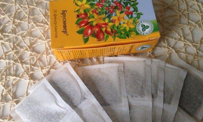 чай бруснивер в пакетиках