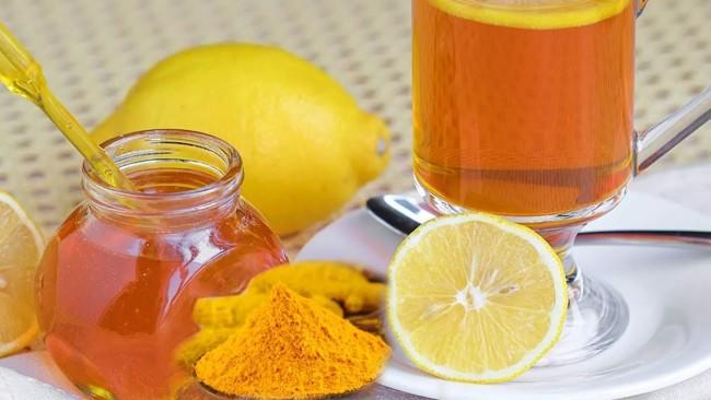 чай с куркумой и лимоном