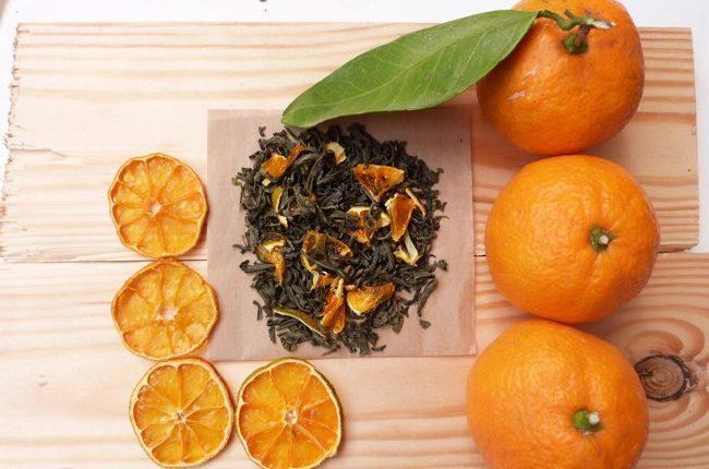 чай с мандарином
