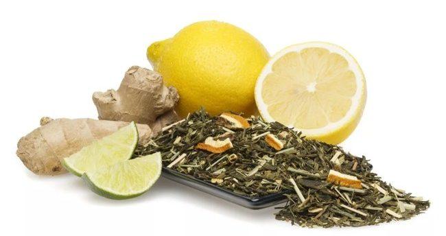 лимон имбирь и зеленый