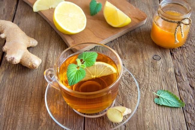 заваренный имбирный чай