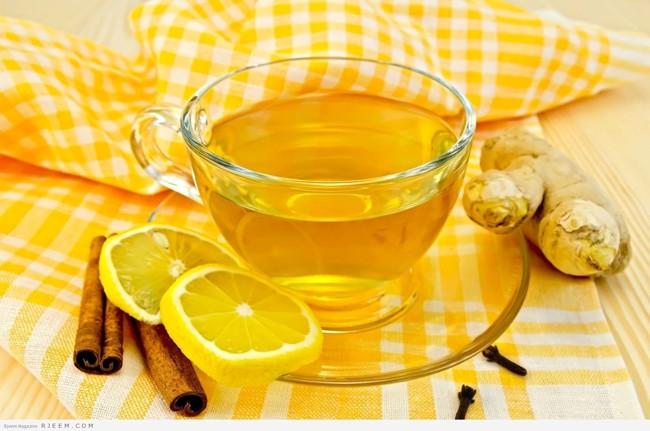 желтый чай с имбирем и корицей