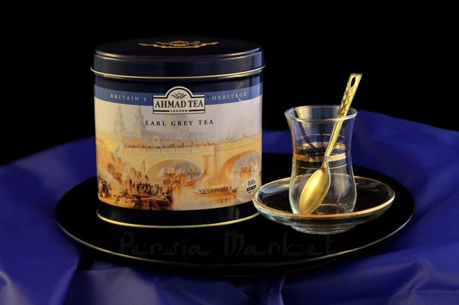 жестяная банка чая с бергамотом