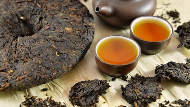 чай пуэр блин