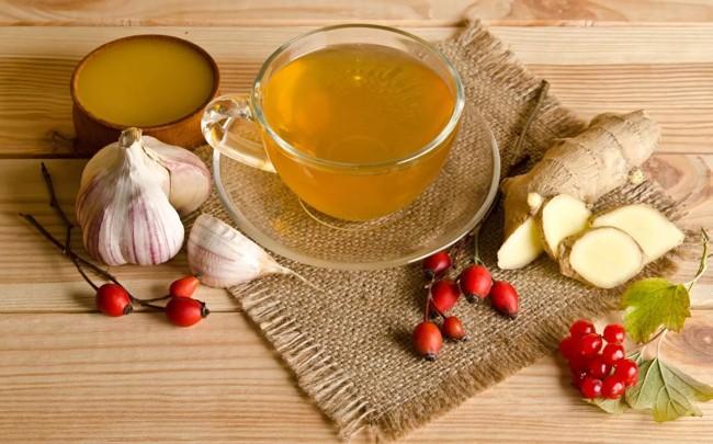 чай с имбирем и чесноком
