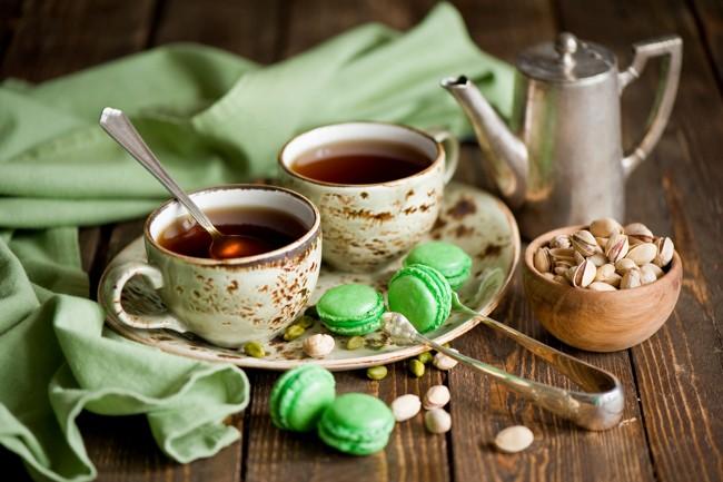 чай с печеньками
