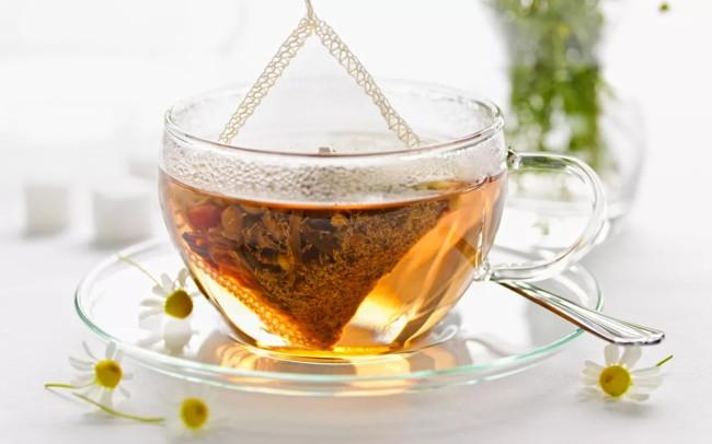 пакетик чая в чашке
