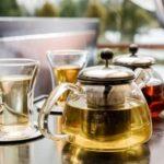 чай черный и зеленый в заварниках