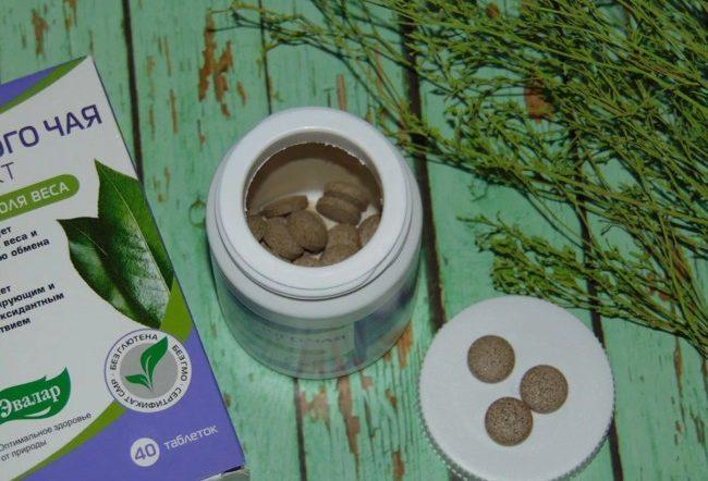 таблетки экстракта зеленого чая