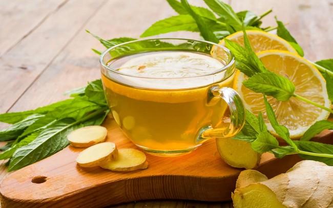зеленый чай с лимоном и имбирем