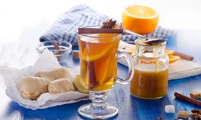 чай имбирный с пряностями