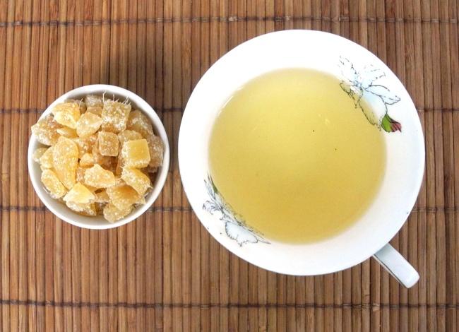 чай с сушеным имбирем
