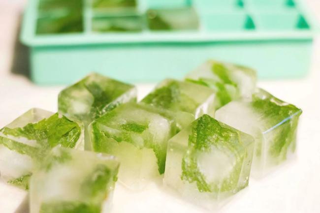 кубики льда травяные
