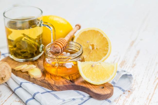 мед лимоны и чай